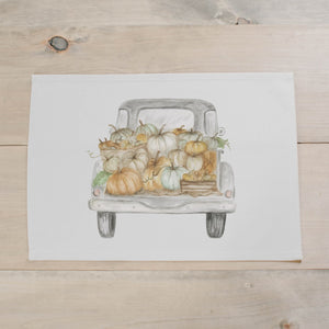 Pumpkin Truck Watercolor Placemat