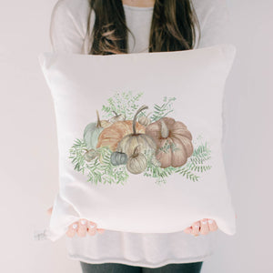 Pumpkin Bunch Watercolor Pillow