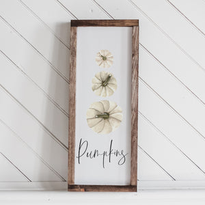 Pumpkin Stack Lumbar Wood Sign
