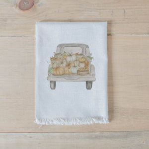 Pumpkin Truck Watercolor Napkin