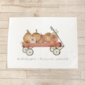 Pumpkin Wagon Watercolor Placemat