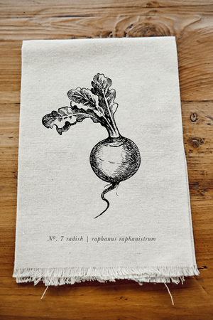 Fruits/Veggies Black + White Napkin