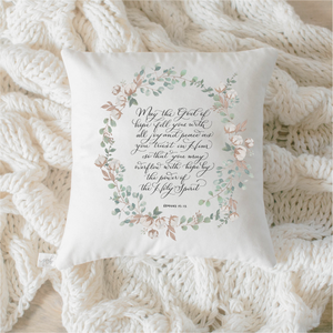 Romans 15 Pillow