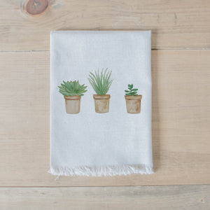 Succulent Pots Watercolor Napkin