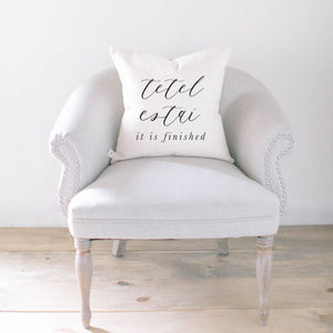 Tetelestai Calligraphy Pillow