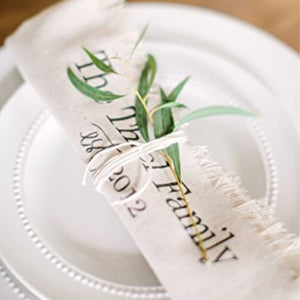 Rolled Personalized Family Name Napkin