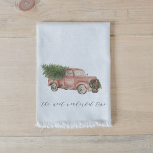 The Most Wonderful Time of the Year Watercolor Napkin