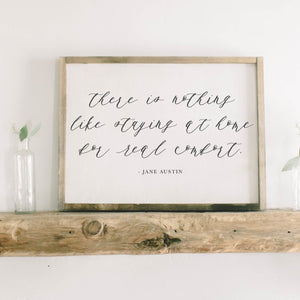 There is Nothing Like Home Rectangle Framed Wood Sign