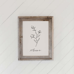 Thrive Wildflower Barn Wood Framed Print