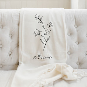 Thrive Wildflower Throw Blanket