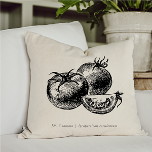 Tomato Black + White Pillow