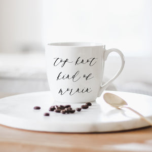 Top Knot Kind of Morning Ceramic Coffee Mug