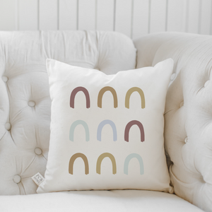 Traditional Rainbow Rows Pillow