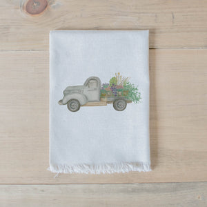 Floral Truck Watercolor Napkin