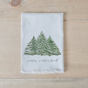 Winter Wonderland Watercolor Napkin