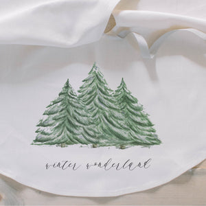 Winter Wonderland Watercolor Tree Skirt