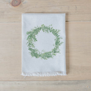 Floral Wreath Watercolor Napkin