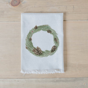 Wreath Christmas Watercolor Napkin