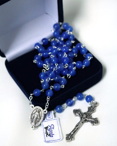 Blue Agate Rosary