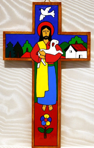 Cross - Traditional Good Shepherd 10""