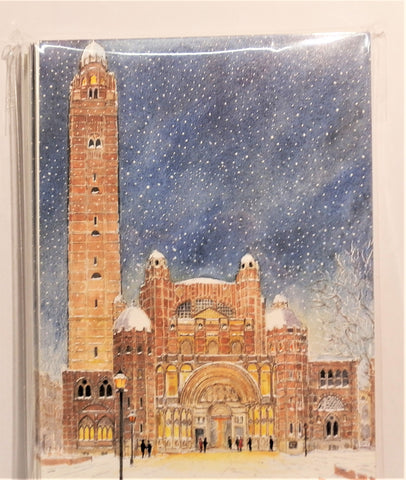Westminster Cathedral Christmas Snow Card Pack (10)