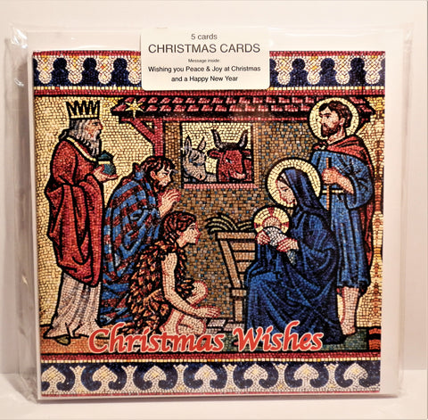 Westminster Cathedral - Nativity (Mosaic) Christmas Card (Pack 5)