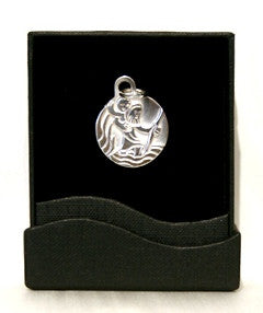Silver Pendant - St Christopher/Small/P&S