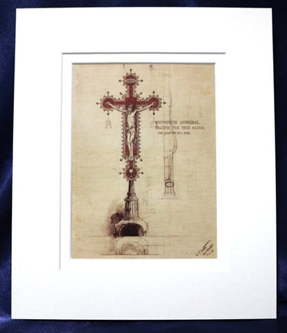 Mounted Print - Crucifix