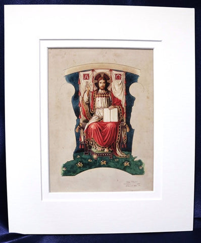 Mounted Print - Christ