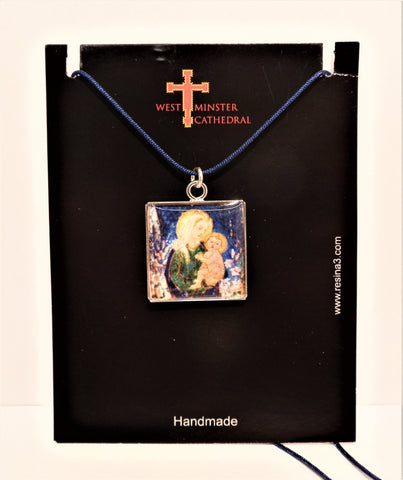 Westminster Cathedral Mother & Child Pendant with ribbon chain