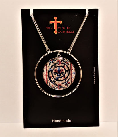 Westminster Cathedral Pendant Spiral Flower Mosaic