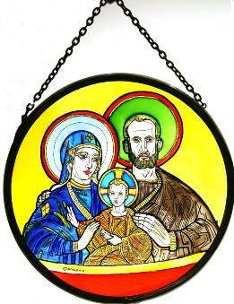 "Roundel 6"" - Holy Family/WC"