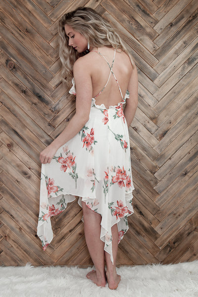 Floral Spaghetti Strap Dress