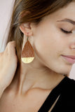 Cognac Olivia Dipped Leather Drop Earrings