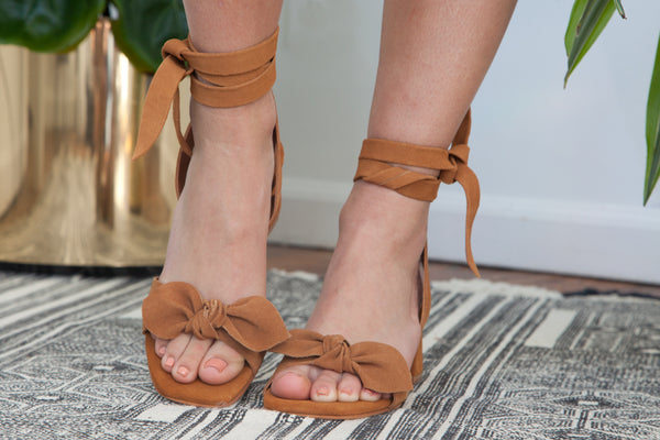 ABLE Estefani Knotted Wrap Heel