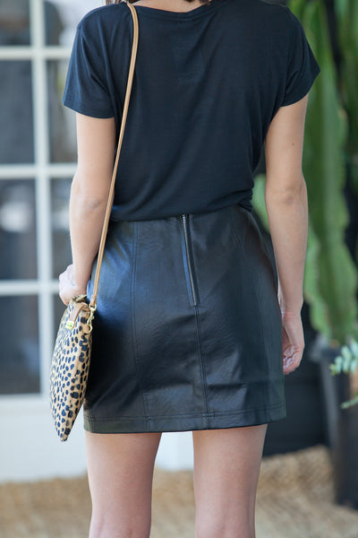 Adela Faux Leather Skirt