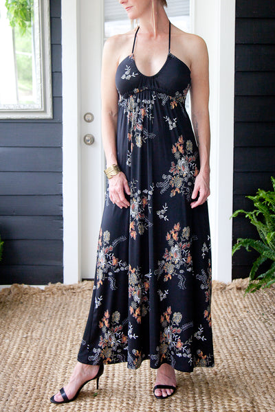 Columbus Halter Empire Maxi