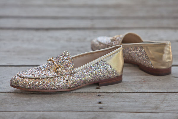 Sam Edelman - Loraine Bit Loafer - Gold Glitter