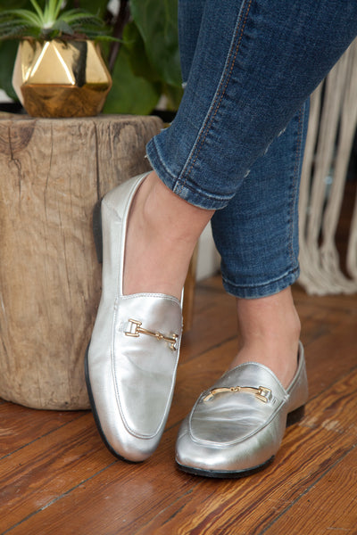 Sam Edelman - Loraine Bit Loafer - Silver Leather