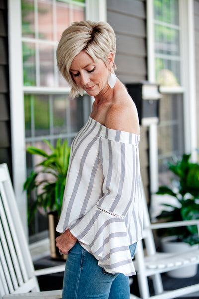 Caspian Top - Dragonfly Playa Stripe