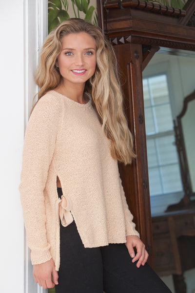 Aria Long Sleeve Sweater - Apple Blossom