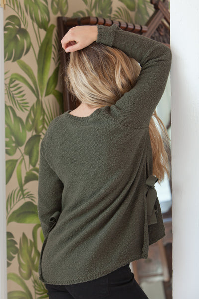 Aria Long Sleeve Sweater - Dark Forrest