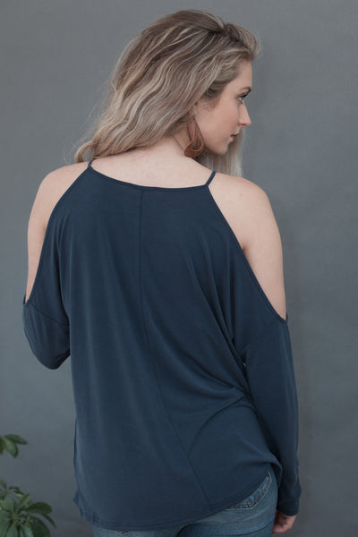 Hannah Cold Shoulder Long Sleeve Top