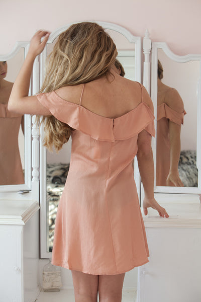 Amelie Off The Shoulder Ruffle Dress