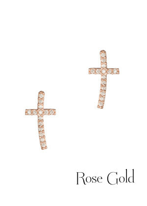 Cross Stud Earring with Micro Pave 2320e