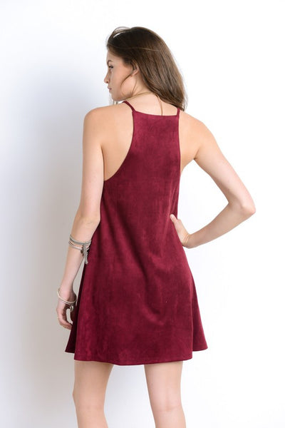 Solid Suede Dress