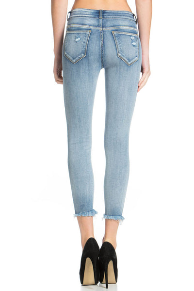 Cello - Mid-Rise 2 Button Crop Skinny