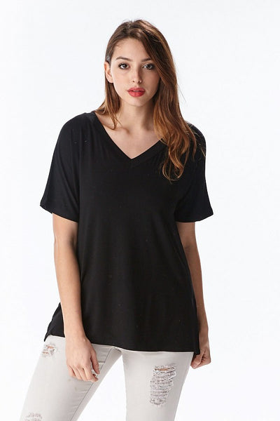 HQ Boxy V-Neck Tee