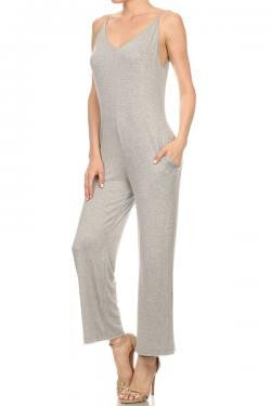 Strappy V-Neck Jumpsuit