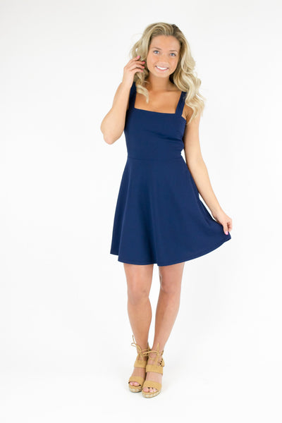 Thick Strap Bow Back Dress